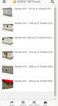 sip panel shelters in the calculator