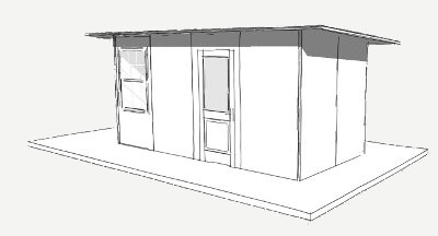 128 sq ft Plan panel schronienia