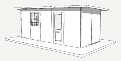 160 sq ft Plan panel schronienia