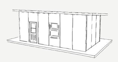 288 vierkante voet skuiling paneel plan