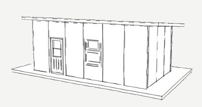 288 sq ft Plan panel schronienia