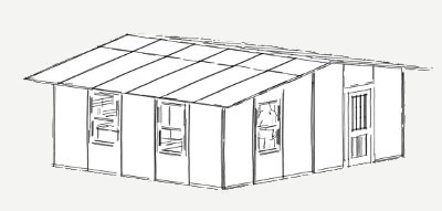 480 sq ft shelter panel plan