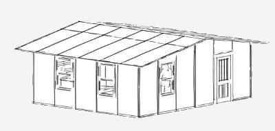 480 vierkante voet skuiling paneel plan