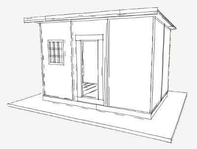 95 sq ft shelter panel plan